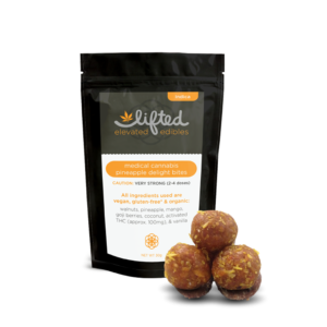 Buy Pineapple Delight Bites 120mg Online. These incredible creations combine dried fruits and finely ground nuts with hash-infused coconut oil to tantalize your taste buds with fresh, invigorating flavors.